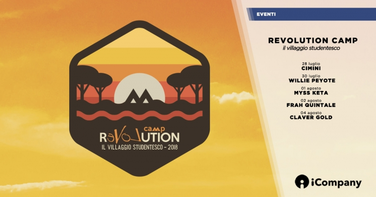 Revolution Camp 2018 - torna il villaggio studentesco