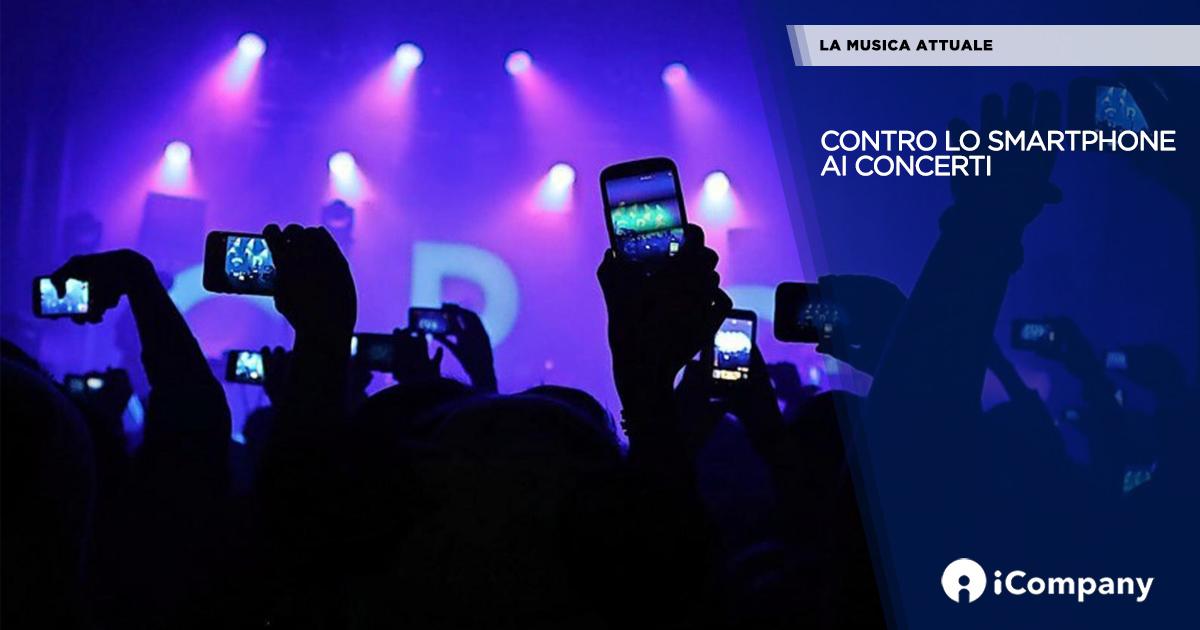 Contro lo smartphone ai concerti